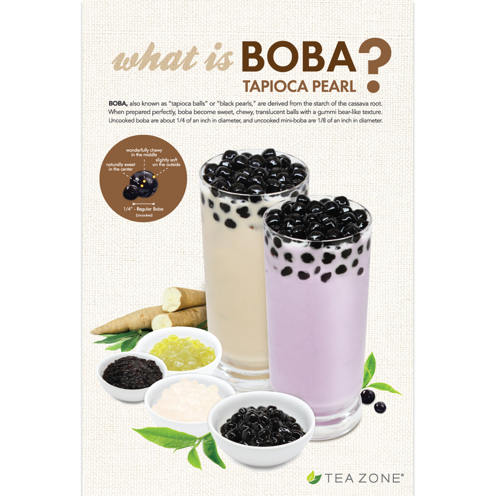 Tea Zone What Is Boba Poster Mission Total Supply