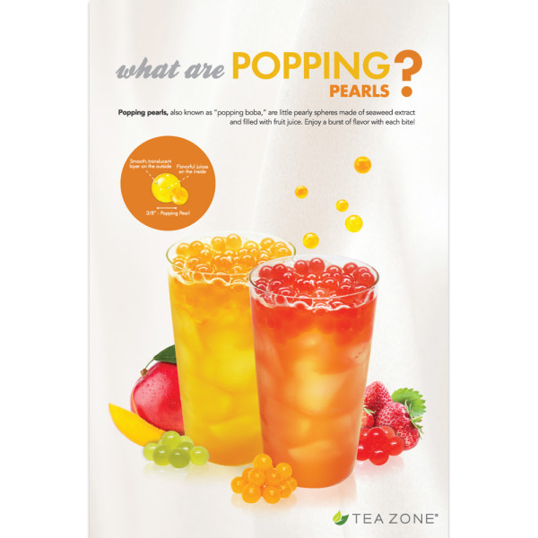 Tea Zone What Are Popping Pearls Poster Mission Total